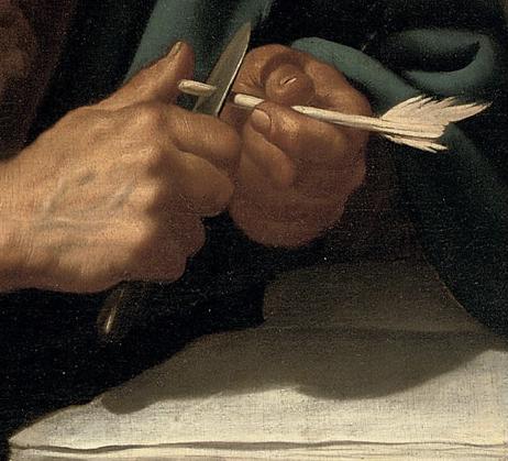 Jan van Bijlert | Detail – Saint Luke the Evangelist | Oil on Canvas | 93.6 x 77.4 cm. | Christie's Amsterdam 13 April 2010