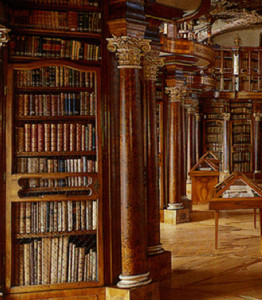The ecclesiastical library of St. Gallen, courtesy of Wikimedia Commons.