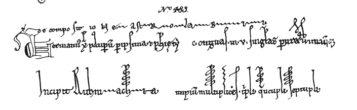 I mentioned a while back on the Voynich.ninja forum, in connection with the 4 x 17 sequence in the VMS, that the Greek letter delta was sometimes written as ...