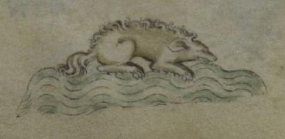 C. 1315 English MS crocodile