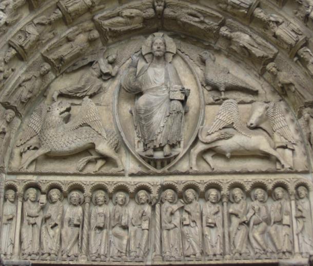 Chartres frieze, traditio legis