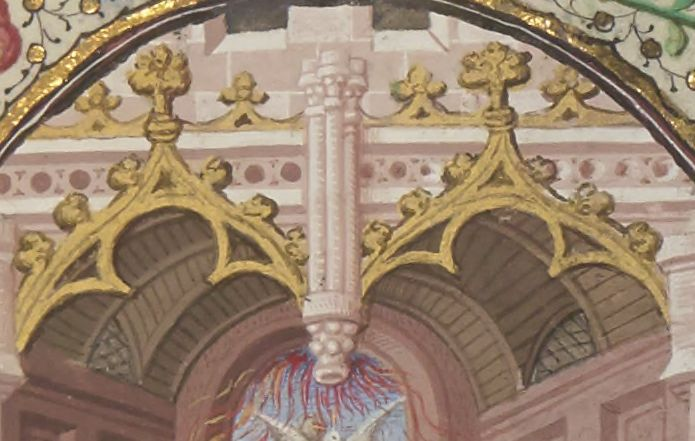 Emanations from an architectural support (under which is a dove) [BNF NAL 3226]