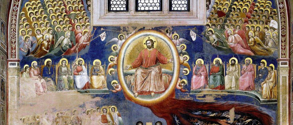 Oval rainbow in the  Last Judgment, Giotta, Padua, c. 1306