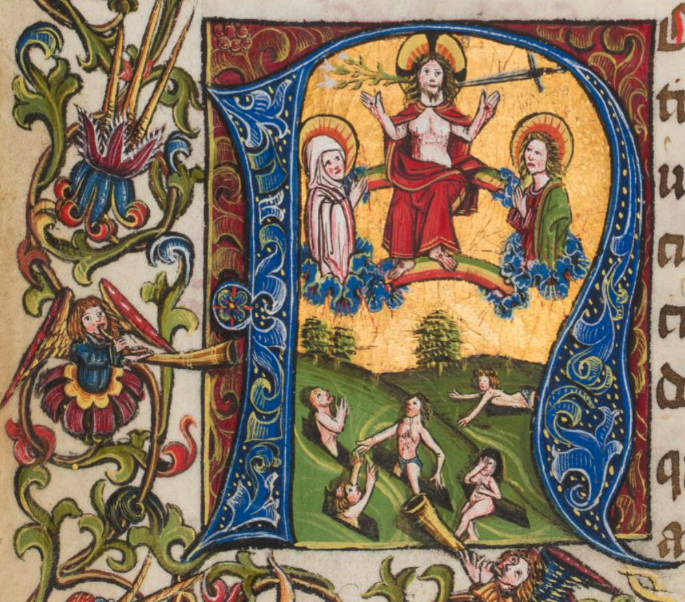 Double rainbows and cloudband loges in The Last Judgment, Liége W.12